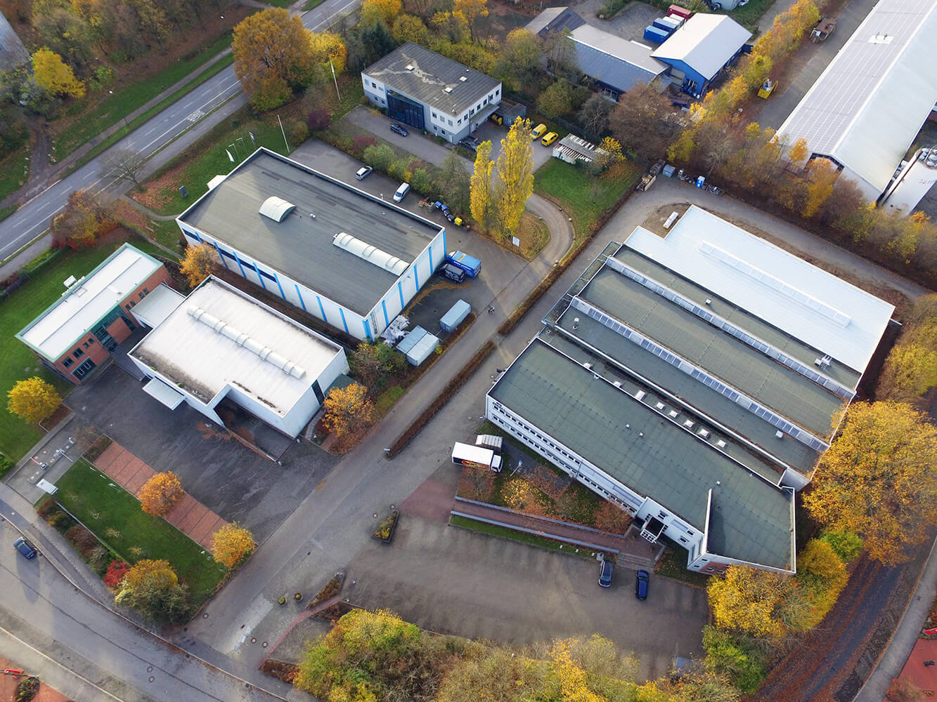aerial view of DESIGNA headquarters